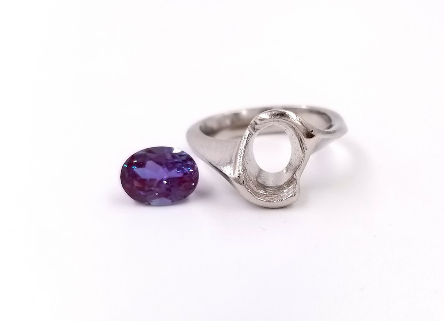 Feature Piece: Alexandrite Engagement Ring