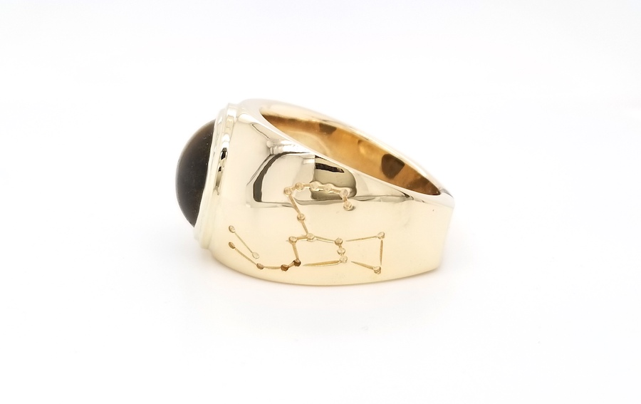 Feature Piece: Tiger's Eye Men's Ring