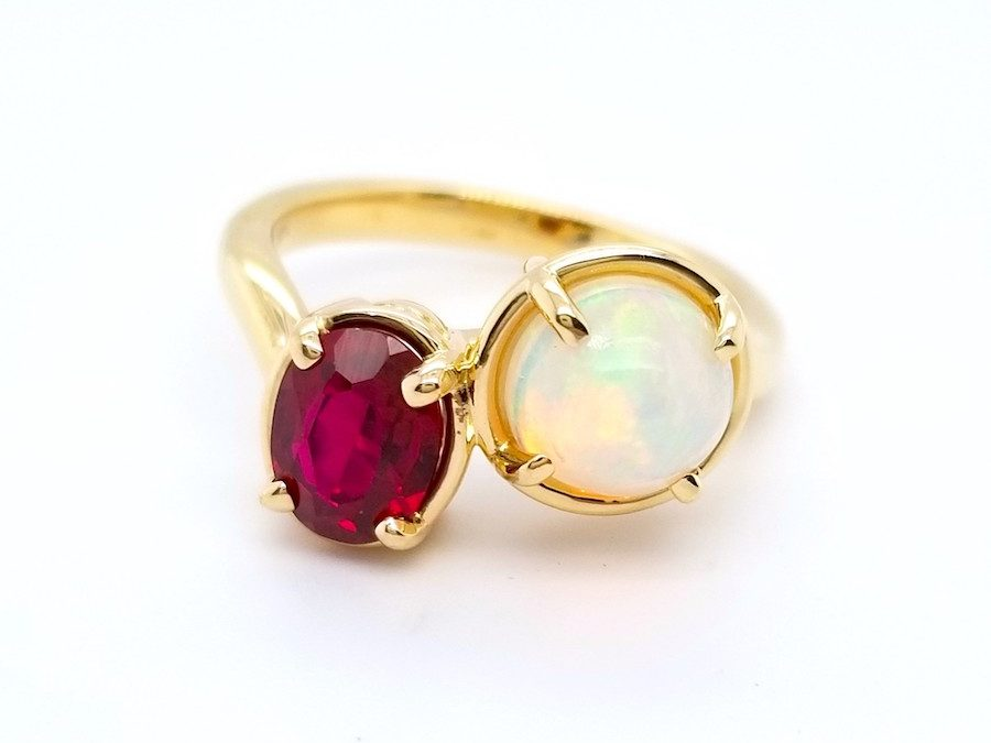 Feature Piece: Ruby & Opal Ring
