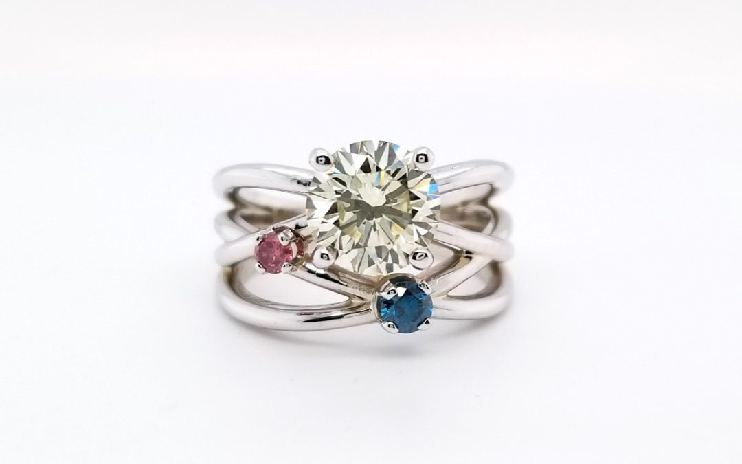 Featured Piece: Diamond Ring with Colored Diamonds
